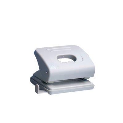 """Дырокол """"BuroMAX"""" 4017-09 на 16 листов, пластиковый, с линейкой,на 2 отверстия, серый"""