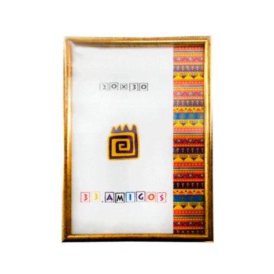 Рамка для фото 20х30 (15 мм) золото ( пластик)