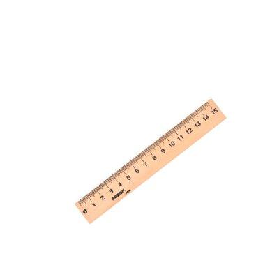 """Линейка деревянная 15 см """"Люкс Колор"""""""