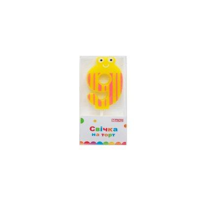 Свеча - цифра большая  (9) MX622053-9 4,5 см **
