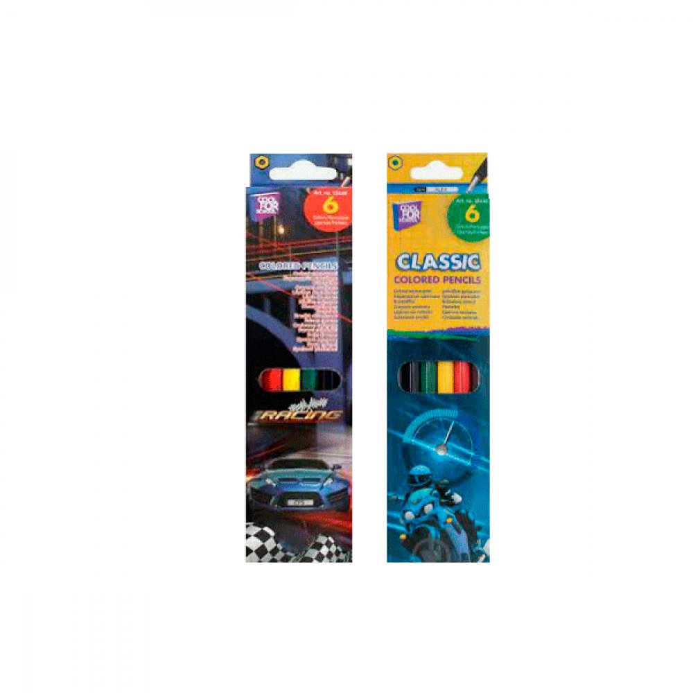Карандаши цветные CFS CF15148 Moto 6 цветов **