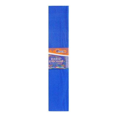 Бумага гофрированная Krepina 100% 8042 синяя