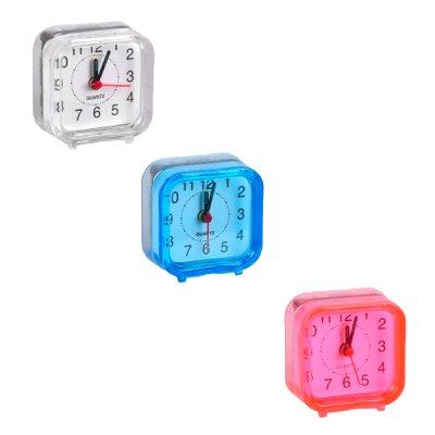 "Часы-будильник ""Квадрат"" Х2-12 6х6х3 см Mix **"