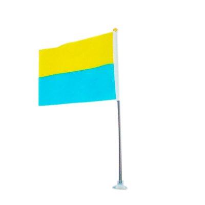 Флаг Украины (140х210) 1015 пласт.древко + присоска