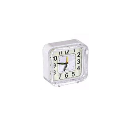 Часы - будильник Квадрат с подсветкой 8,5 х 8,5 х 4 см белый **