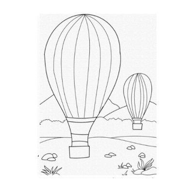 Набор картина по контуру 25 х 30 Воздушные шары 15512-АС **