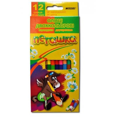 "Карандаши цветные  ""Marco"" 1011 ""Пегашка"" 12 шт 24 цвета**"