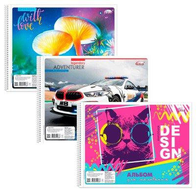 Альбом 40 л 120 г/м САВ-21 на спирали Mix