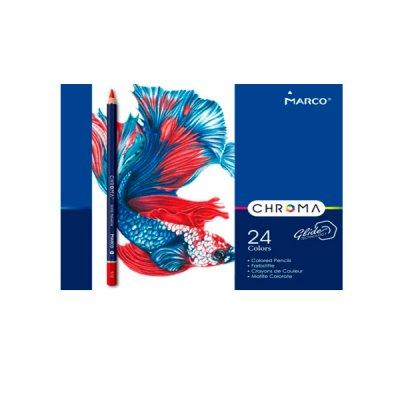 """Карандаши цветные """"Marco"""" 8010 TN металлическая упаковка 24 цветов  **"""