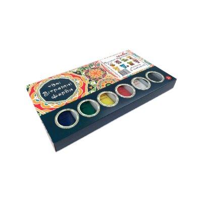 Набор витражных красок Пушистые медвежата 98502 + трафарет **