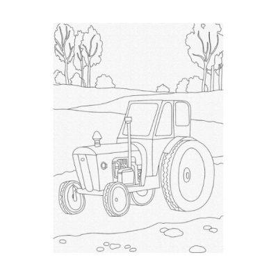Набор картина по номерам 25 х 30 Трактор 15517-АС **