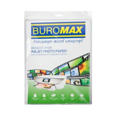 """Фотобумага А4 """"BuroMAX"""" 2225-4100 180 г/кв матова (100 л)"""