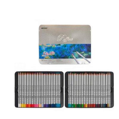 """Карандаши цветные """"Marco"""" 7100 TN металлическая упаковка 50 цветов  **"""