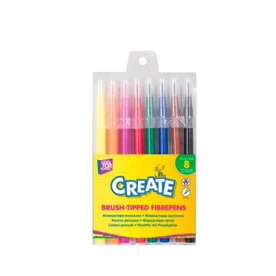 Фломастеры CFS  CF-01133 Create кисточкой 8 цветов