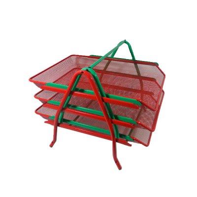 """Лоток горизонтальный """"BuroMAX"""" BM6252-05 3в1 металлический красный"""