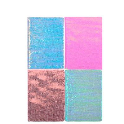 Блокнот А 5 # в клетку обложка неон, пайетки твердый переплет 21 х 14,5 см Mix