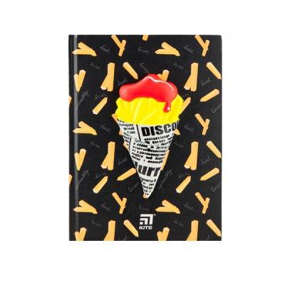 """Блокнот А5 80 л # в клетку """"Kite"""" K20-284-2 """"Fries"""" твердая обложка"""