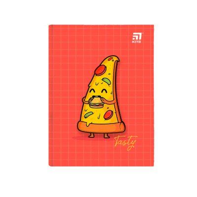 """Блокнот А5 80 л # в клетку """"Kite"""" K20-284-3 """"Pizza"""" твердая обложка"""