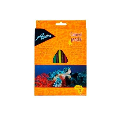"""Карандаши """"Economix"""" E11524 """"Africa"""" 18 цветов, пластиковые"""