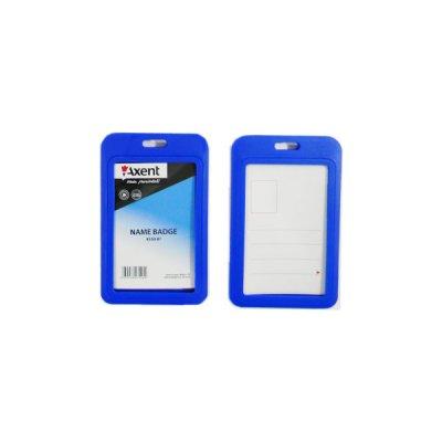 Бейдж вертикальный Axent 4530-07 50*84 синий