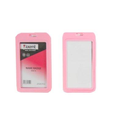 Бейдж вертикальный Axent 4530-10 50*84 розовый