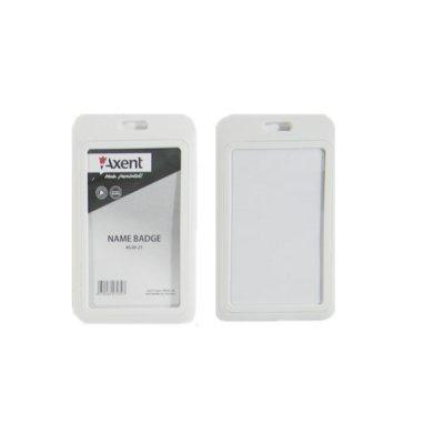 Бейдж вертикальный Axent 4530-21 54*84 белый