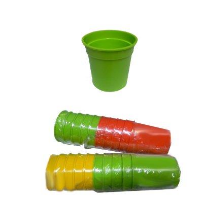 Стакан пластиковый 250 мл Mix **