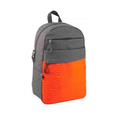 "Рюкзак ""GoPack"" GO20-118L-3 ""City"" серый с оранжевым *"