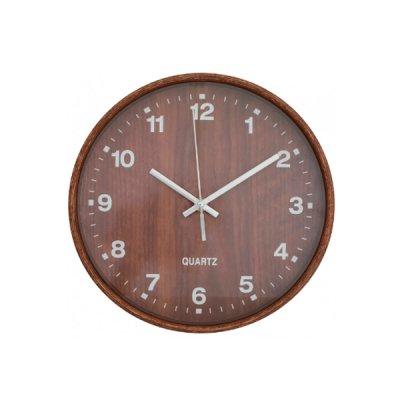 Часы настенные Optima O52081-43 Promo Natural темное дерево **