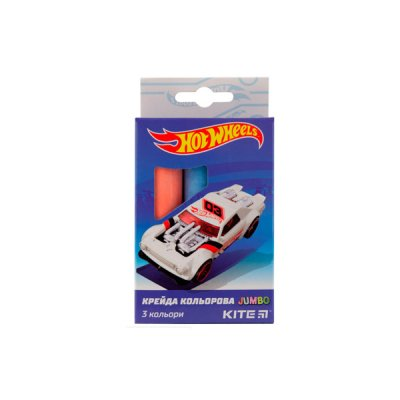 "Мел цв. 3цв. ""Kite"" Jumbo HW19-077 ""Hot Wheels"""