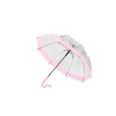 Зонт трость Economix E98430 Little Girl автомат детский прозр.-роз.