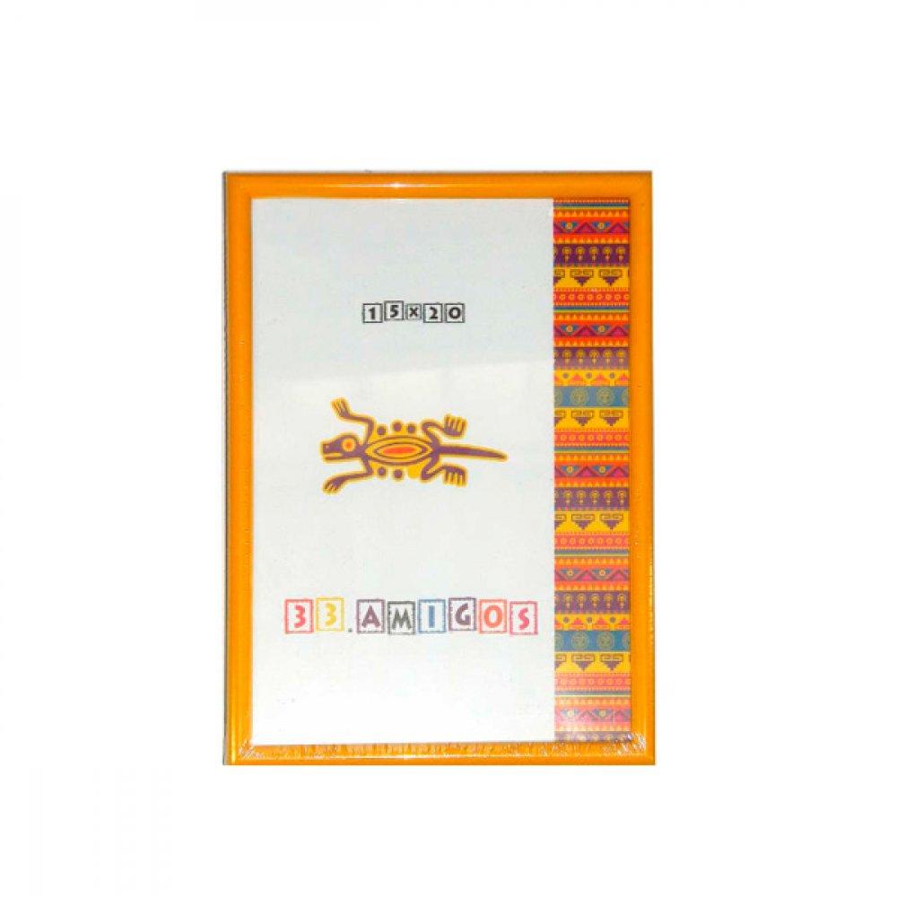 Рамка для фото 15х20 (15 мм) желтая