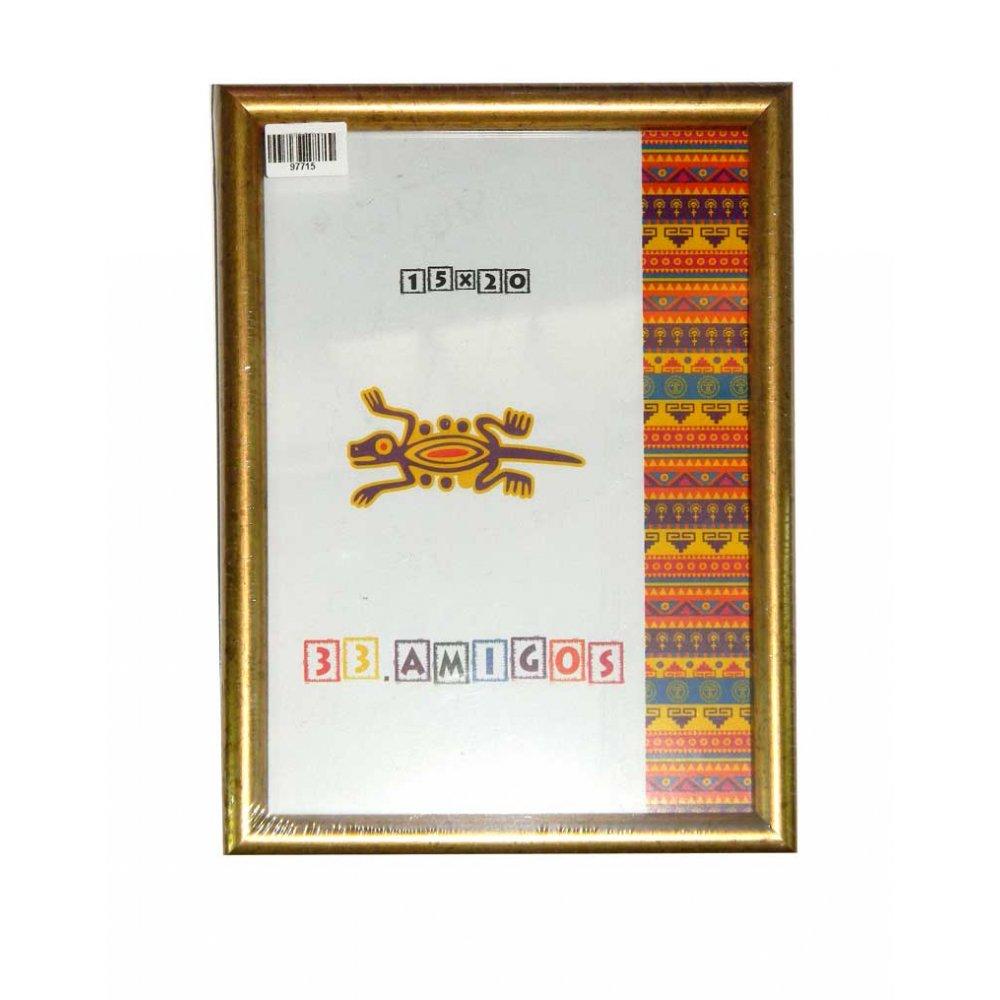 Рамка для фото 15х20 (15 мм) золото
