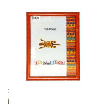 Рамка для фото 15х20 (15мм) оранж.