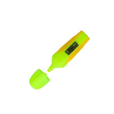 """Маркер """"BuroMAX"""" 8904-08 текстовый, neon,  желтый с резиновыми вставками"""