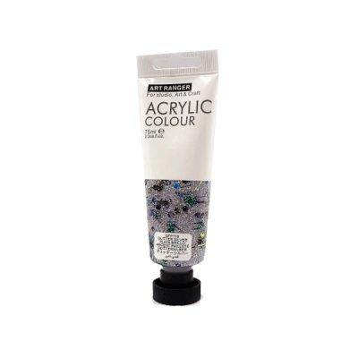 Краска акриловая Acrylique 75мл GFP119 глитер серебро **