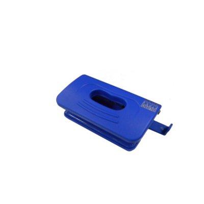 """Дырокол """"BuroMAX"""" 4016-02 Rubber Touch на 10 листов, пластиковый,с линейкой, синий"""