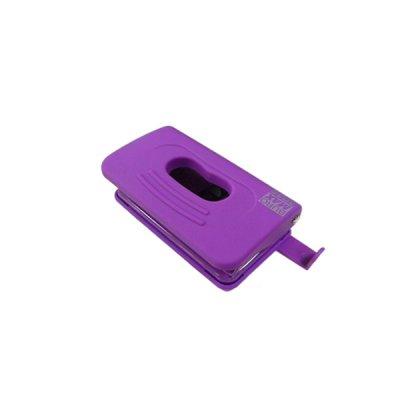 """Дырокол """"BuroMAX"""" 4016-07 Rubber Touch  на 10 листов, пластиковый, с линейкой, фиолетовый"""