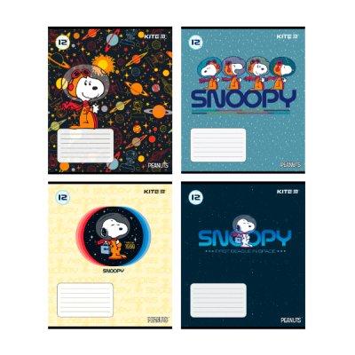 Тетрадь 12 л  // в косую линию Kite SN21-235 Snoopy лак софт-тач + УФ лак *