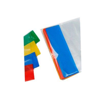 Обложка регулируемая (100 мк) 210х360 цветной кант  2002-ТМ
