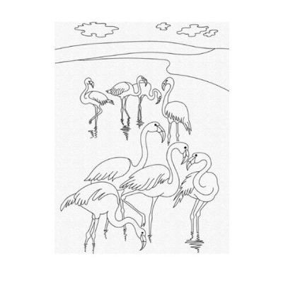 Набор картина по контуру 25 х 30 Фламинго 15511-АС **