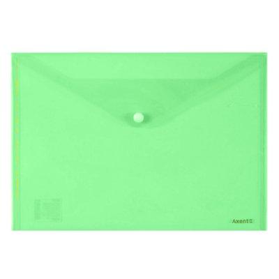 Папка конверт пл. А4 Axent 1402-25 на кноп. зеленая
