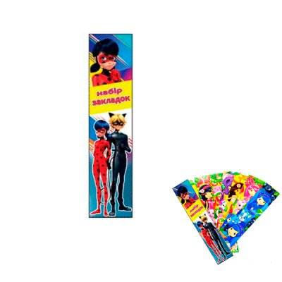 "Закладка для книг ""Леди Баг и Супер-Кот"" ZK77 (7шт)"