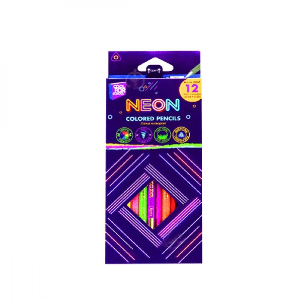 """Карандаши """"CFS"""" CF15167 """"Neon"""" 12 цветов треугольные"""