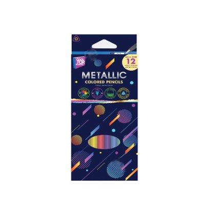 """Карандаши """"CFS"""" CF15168 """"Metallic"""" 12 цветов треугольные"""