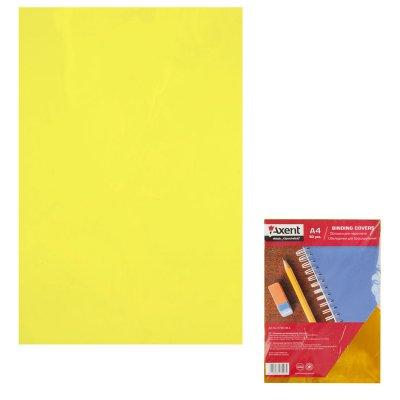 "Обложка для биндера ""Axent"" А4 50 шт 180 мк 2720-08 прозраная желтая"