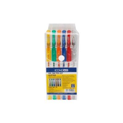 Набор гелевых ручек Е11951 ECONOMIX GLITTER (6 цветов)