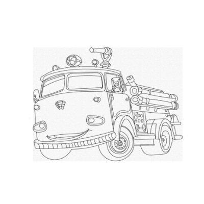 Набор картина по контуру 25 х 30 Пожарная машина 15520-АС **