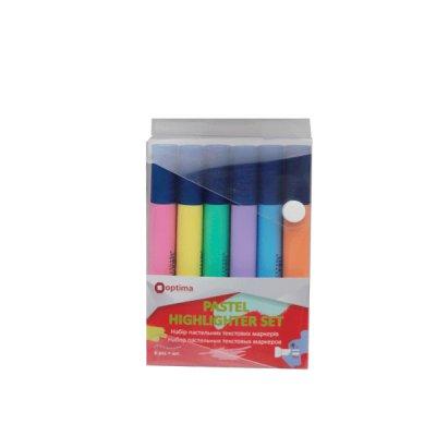 Набор маркеров пастель Optima O15831 Text (6 шт)  1-4,5 мм