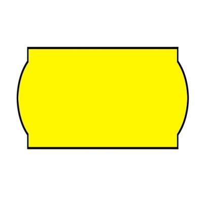 Ценник фигурн. 26х12 (рул.3м) желт.